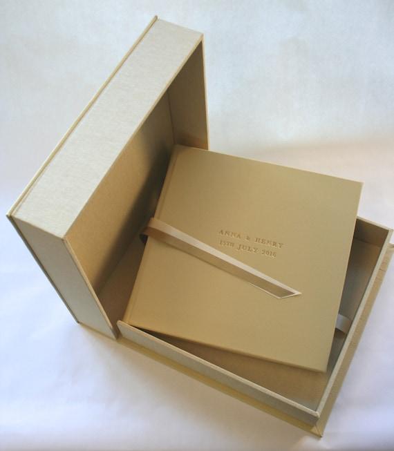 Luxury Photo Album: Luxury Leather Wedding Album & Matching Both. By