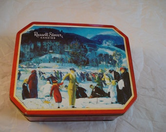 Vintage Russell Stover Candy Tin