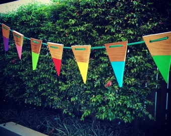 Custom Made Wooden Bunting