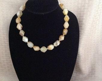 Carnelian nugget necklace. Adjustable length.