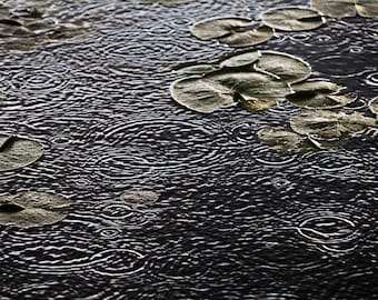 """5"""" X 7"""" Raindrops and Lily Pads Photo Card (Blank inside)"""