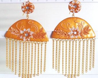 """""""Golden fringes"""" Flemish Pendiendes"""