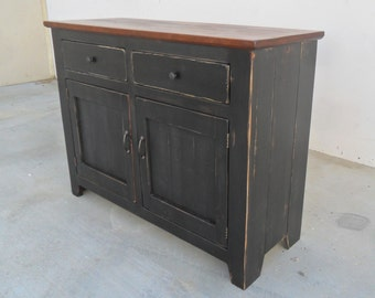 Sideboard, Console Cabinet, Reclaimed Solid Wood, Server, Shabby Chic, Vintage, Farmhouse