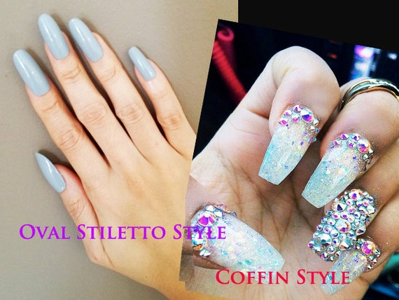 Blank stiletto nails