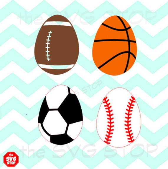Sports Easter Eggs Designs Svg And Studio Files For By Svgstop