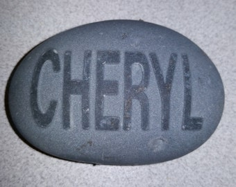 Custom Embossed Name Rock - Namesake, Sandblast, Garden Ornament, Stocking Stuffer