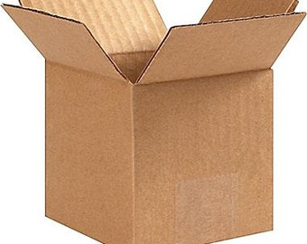 """10  Boxes 5""""x5""""x5"""" Cardboard Corrugated Shipping Boxes Wholesale  supplies"""