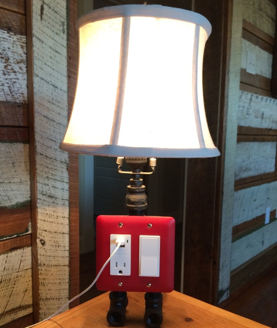 items similar to table lamp with built in electrical. Black Bedroom Furniture Sets. Home Design Ideas