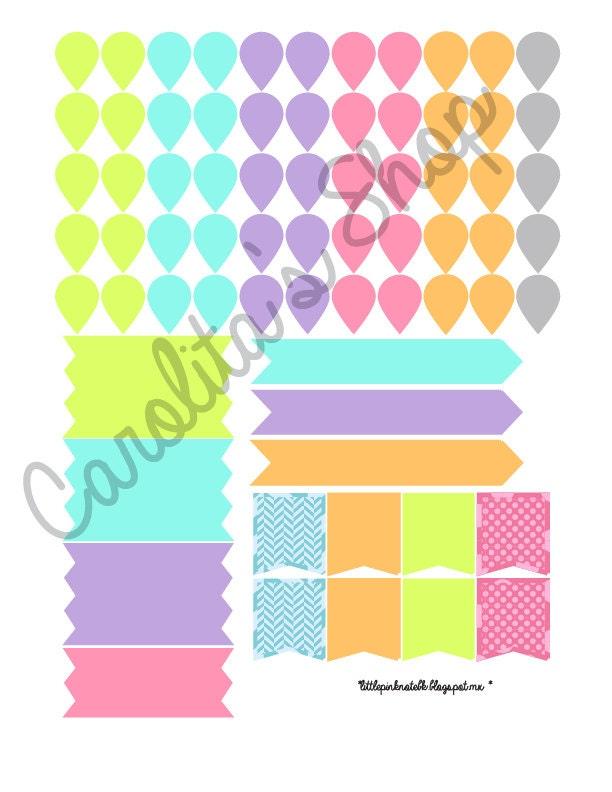 Stickers o pegatinas para agenda imprimir por for Pegatinas decorativas para bebes