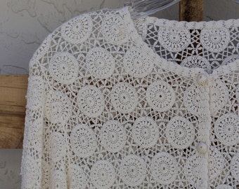 Hand-crocheted vintage top