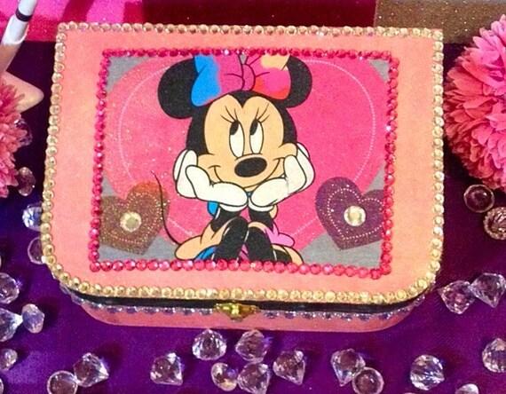 Disney minnie jewelry box keepsake box one of a kind by for Minnie mouse jewelry box