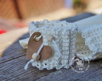 Napkin rings, 3 pcs, 100% natural cotton  napkin rings, rustic wedding, rustic napkin rings, wedding napkin rings , heart, table