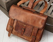 Leather Laptop Backpack Satchel By Vida Vida