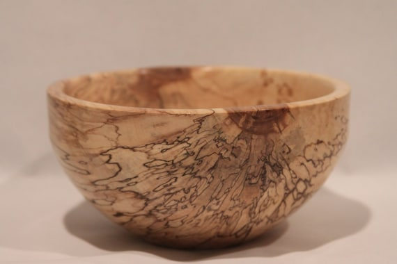 Spalted Maple Wood Bowl Spalted Maple Wood Bowl