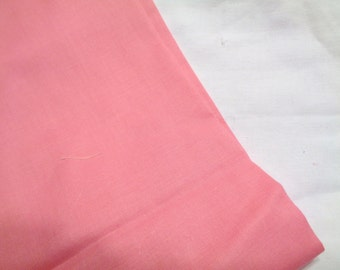 3 yards medium pink broadcloth