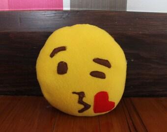 Kissy Face Emoji Pillow