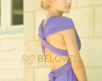 Convertible Infinity Dress Bridesmaid Dress Purple