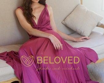 Convertible Infinity Dress Bridesmaid Dress Purple Pink / Light Purple / Orchid