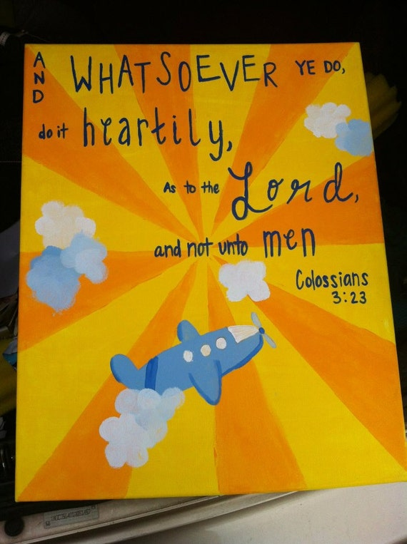 Hand-painted Colossians 3:23