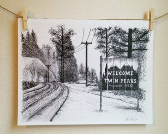 Welcome to Twin Peaks Print