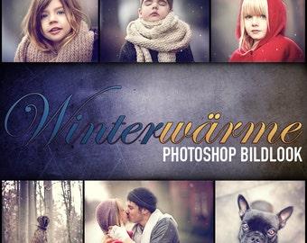 Winter warmth - Photoshop action set
