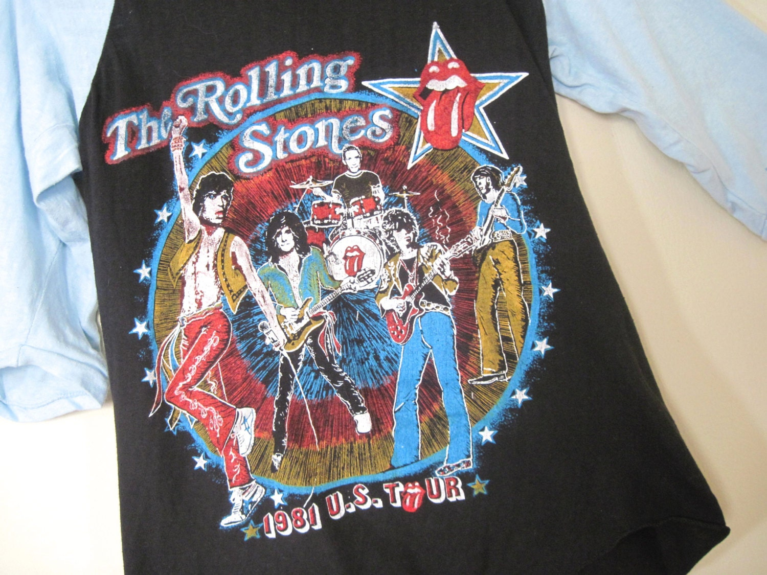 1981 The Rolling Stones Tattoo You Us Tour Concert Tee 1980s