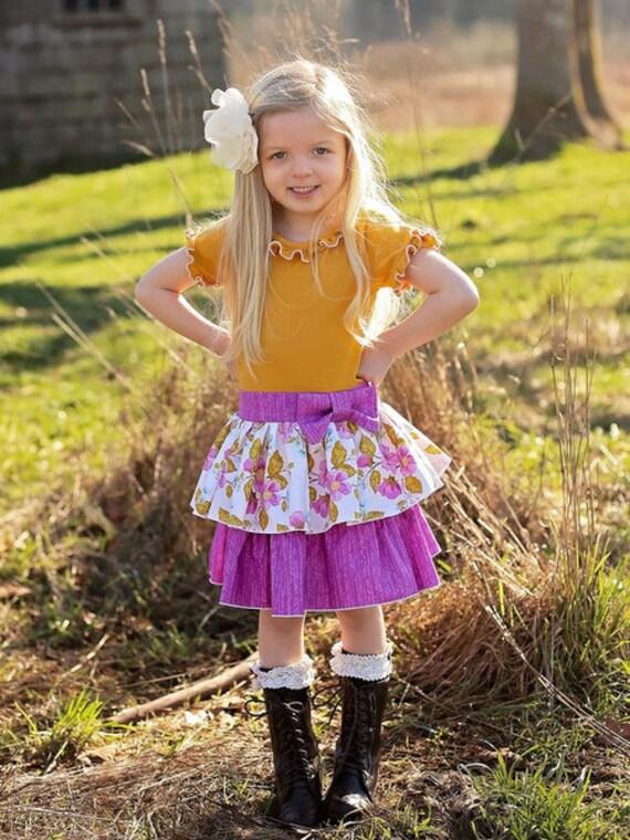 Phoebe's Drop Waist Dress. PDF sewing pattern for toddler girl sizes 2t - 12.