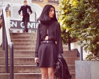 Megz Black High Waist Flare Skirt R15/2