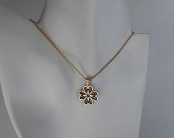 Bronze Flower Pendant Made in Montana Fine Jewelry 8th Anniversary Gift for Wife Birthday Gift for Girls Rustic Flower Necklace