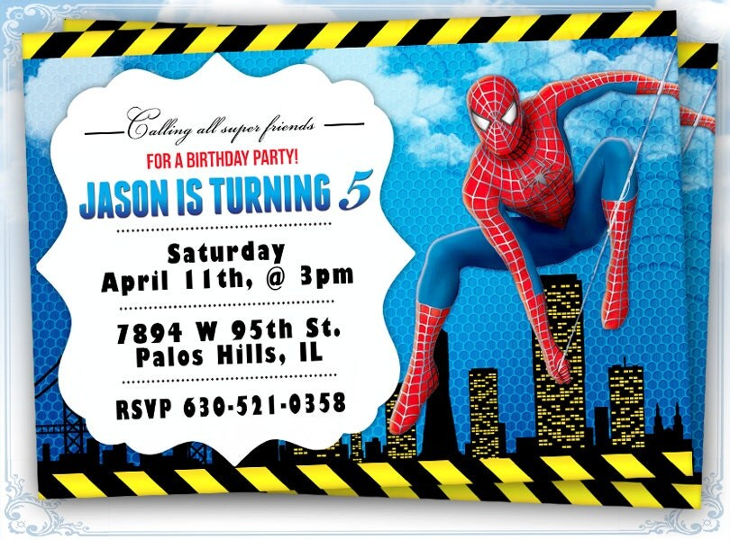 Spiderman Invitation Cards is amazing invitation example
