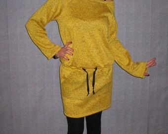 dress-sweater yellow long-sleeved