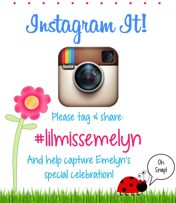 Instagram Birthday Printable Hashtag Sign By