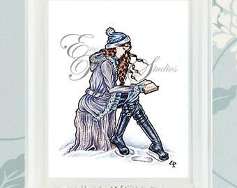 "Winter ""Seasons Readers"" Illustration Print"