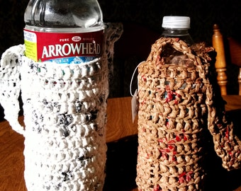 Recycled water bottle holder
