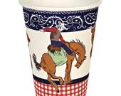 Cowboy Party Cups | Paper Cups | Cowboy Party | Party Cups | Cups | 12 per Pack | Cowboy Cups | Cups