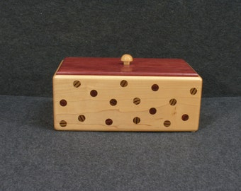 Wooden Pok-a-dot Box