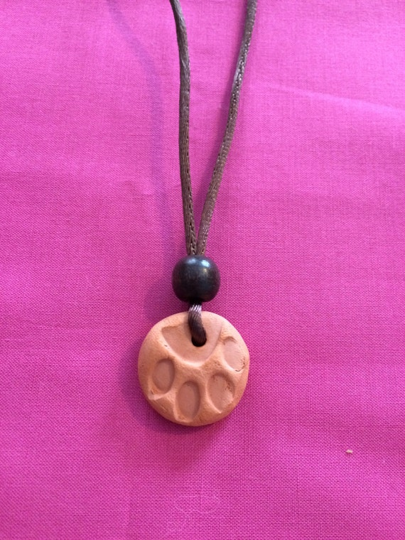 Terracotta Neck Pendant Diffuser ~ Terra cotta diffuser necklace by gilliegetawaycrafts on etsy