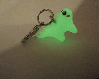Glow in the dark dinosaur key chain