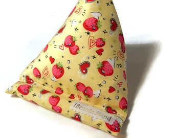 Tablet Cushion Stand - Strawberry love - iPad Stand Kindle Stand e reader iPhone holder - gift idea