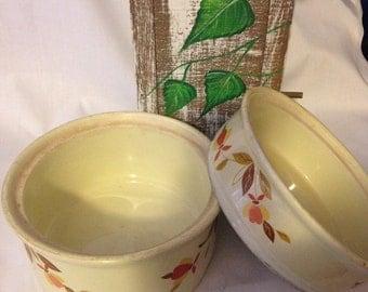 Vintage Jewel Tea Autumn Leaf Casserole/Serving Dishes - set of 2