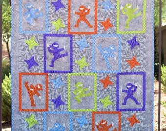 Hi-Yah! - Appliqued Ninja Quilt Pattern