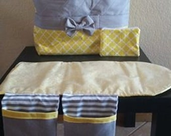 Quilted Diaper Bag Set
