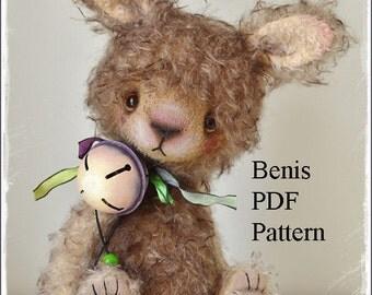 PDF Bunny pattern, 8 inches (20 cm) - Benis