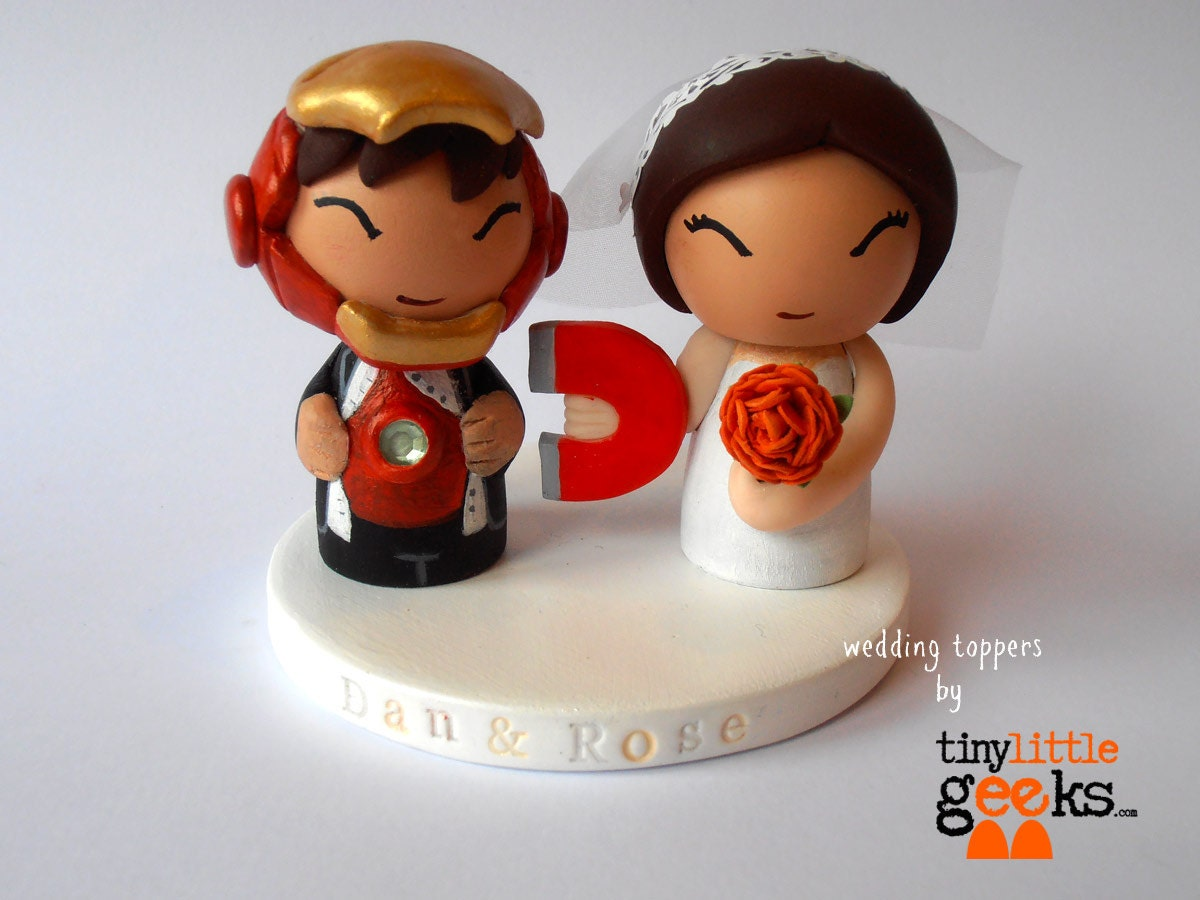 iron man wedding cake topper iron inspired wedding cake topper 16492