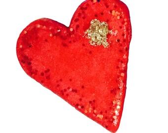 heart fridge magnets, decorations