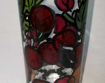 Mercer stained glass fruit tumbler this is for a set of 6 tumblers