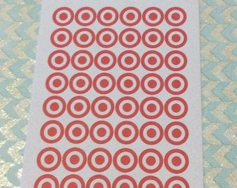 Target Bullseye Stickers, Set of 48
