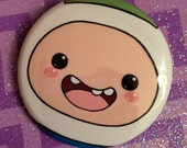 Adventure Time Finn the Human Button