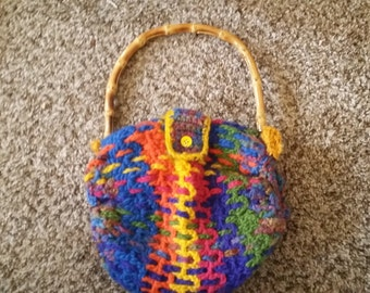 crocheted handmade purse