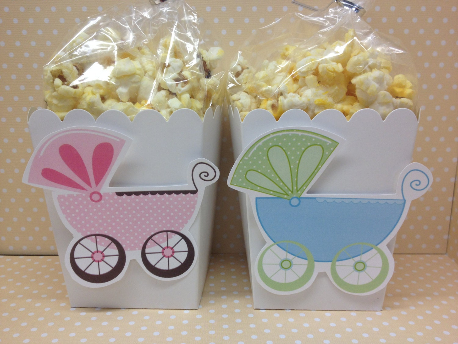 baby carriage shower popcorn or favor boxes set of 10